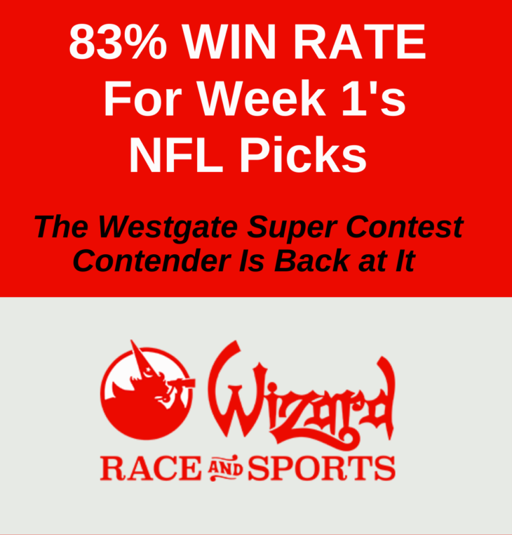 Wizard Race and Sports Week 1 NFL sidebar ad